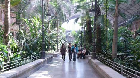 jardines atocha Estación de Atocha en Madrid
