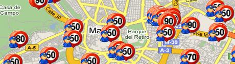 mapa radares de trafico Radares de Tráfico en España