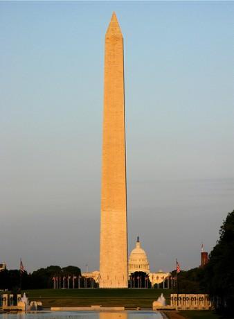 monumento a Washington 338x460 El obelisco del Monumento a Washington