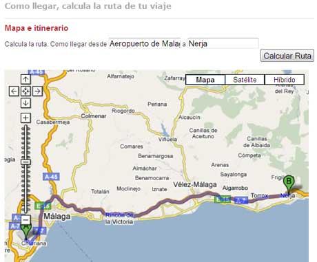 muestra calcular ruta carretera Calcula tu ruta, como llegar a un destino