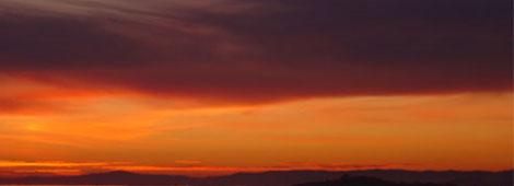 puesta de sol En pleno sol de media noche