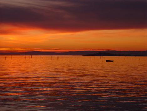 puesta sol carril vilagarcia galicia Las puestas de sol más bonitas del mundo