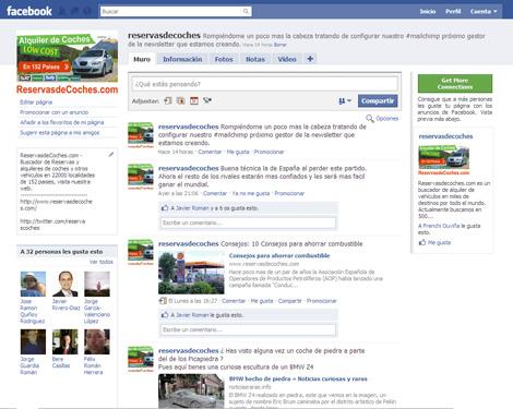 reservasdecoches alquiler de coches facebook Hazte fan de ReservasdeCoches.com en Facebook