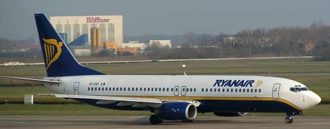 ryanair avion La bromita de Ryanair