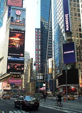 new york times square pictures. Times Square en New York